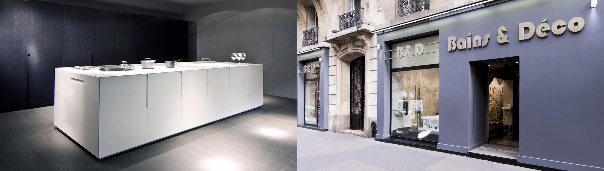 Bains et deco salle de bain cuisine paris histoire for Showroom cuisine paris